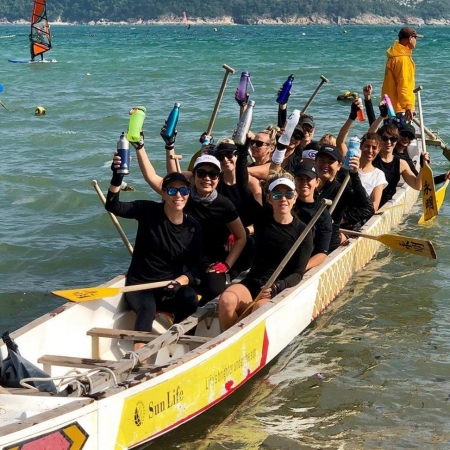 'Paddle without Plastic' - In the fight against marine pollution, Hong Kong dragon boat paddlers join forces